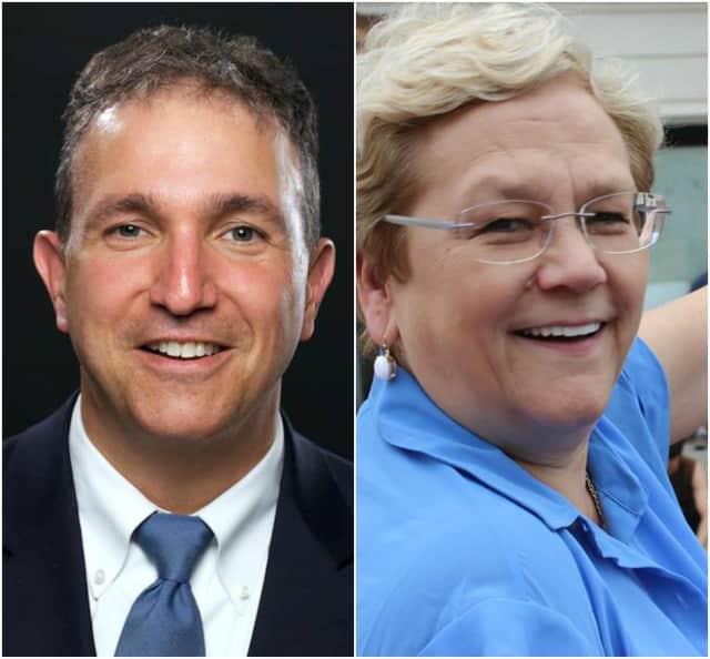 Former Ridgewood Mayor Paul Aronsohn and Manager Roberta Sonenfeld.