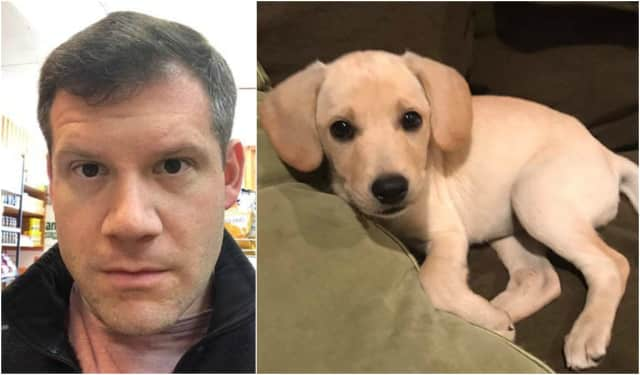 Michael Weinberg of Glen Rock is giving out a $50 Amex gift card to anyone who can name his new puppy.
