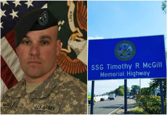 A section of Route 17 in Ramsey has been dedicated the Staff Sergeant Timothy R. McGill Memorial Highway.