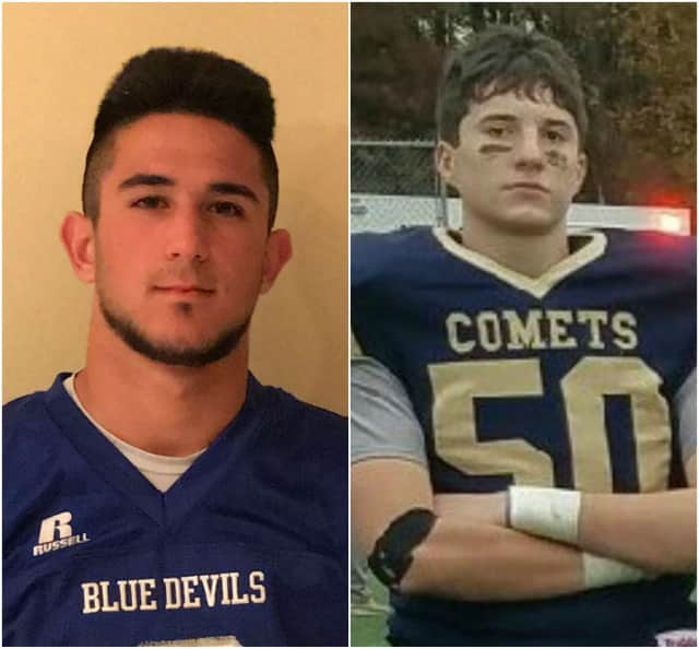 Michael Giancaspro of Wood-Ridge, left, and Matthew Mai of Hackensack are nominated for the Heart of a Giant award.