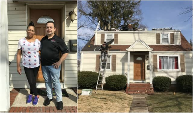Chuck Anania gave Bergenfield's Michelle Edmond's a new roof.