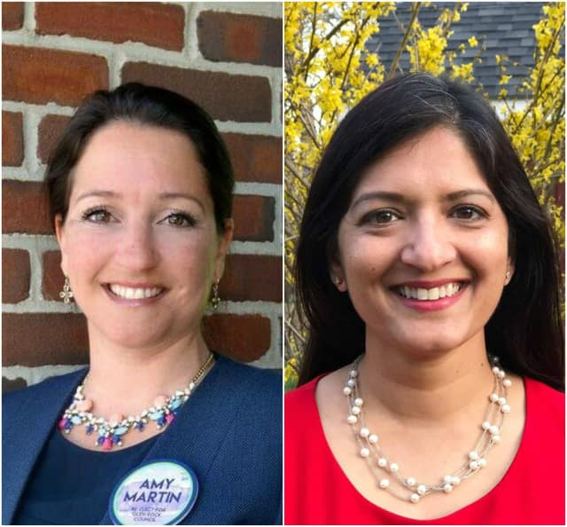 Dems Amy Martin and Arati Kreibich won in Glen Rock.
