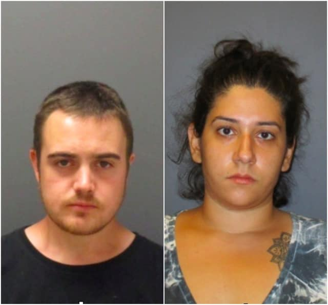 Blaise Santella, 31, and Sara Giangiobbe, 28, face heroin charges in Rochelle Park.