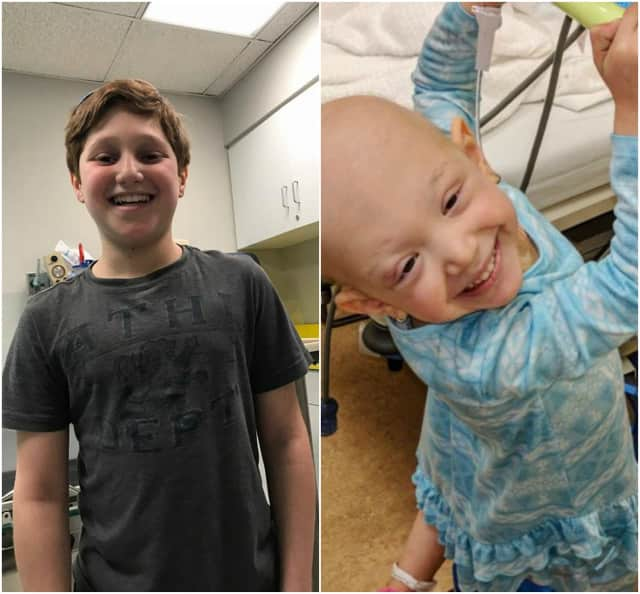 Cousins Bennett Burgida of Englewood and Sophie Spangenthal of Fair Lawn are both fighting cancer.