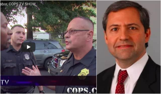 "Left: Paterson patrolman Tim Tabor had his big break on ""Cops."" Right: Fort Lee thoracic surgeon Robert C. Ashton, Jr."