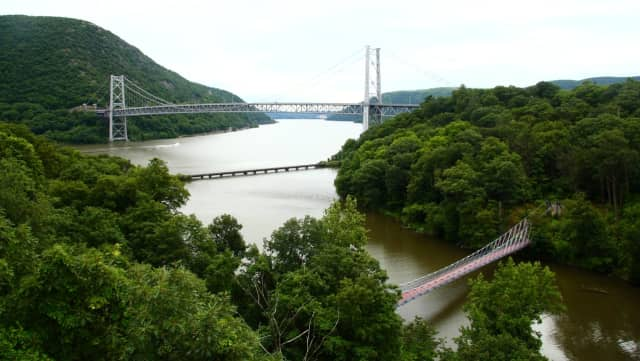 New York State Police are searching for a reported jumper from the Bear Moutain Bridge early Friday.