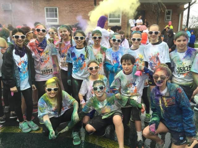 These were some of the participants in the Briarcliff Manor Color Run.