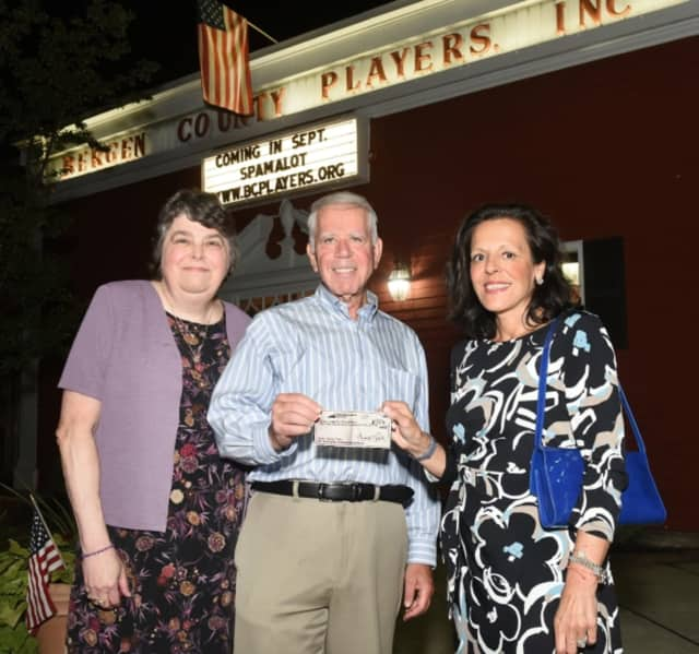 Lynne Lupfer, President of the Bergen County Players; Sheldon Stone, Bergen County Players Charity Chair; Sandy Carapezza, Director of Development at The Valley Hospital Foundation.