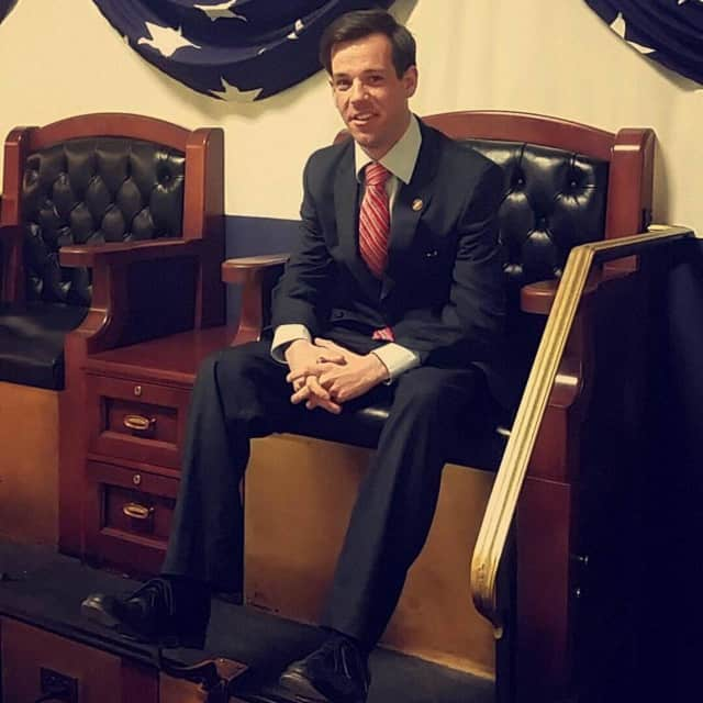 Bethel resident Thomas Burke, a military veteran and a student at Yale, announced his candidacy for state representative.
