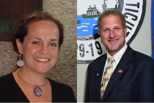 Shelton mayoral candidates Michele Bialek and Mark Lauretti