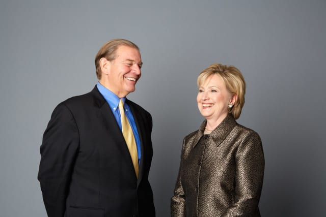 Bill Shillady and Hillary Clinton