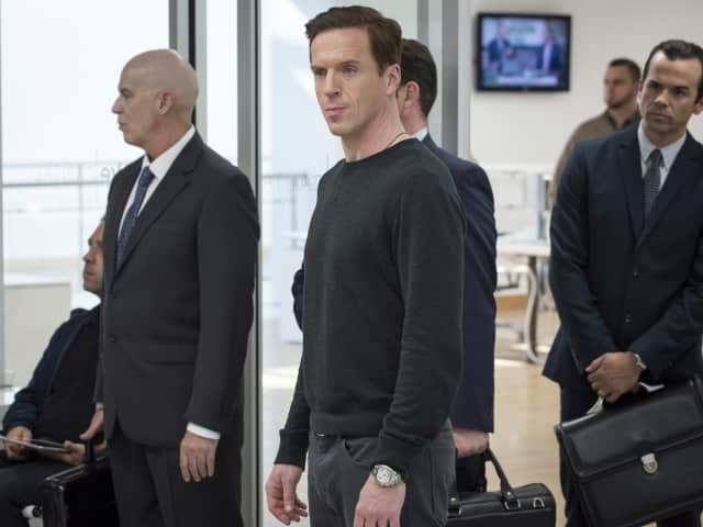 "Damian Lewis as Bobby ""Axe"" Axelrod in Showtime's ""Billions."""