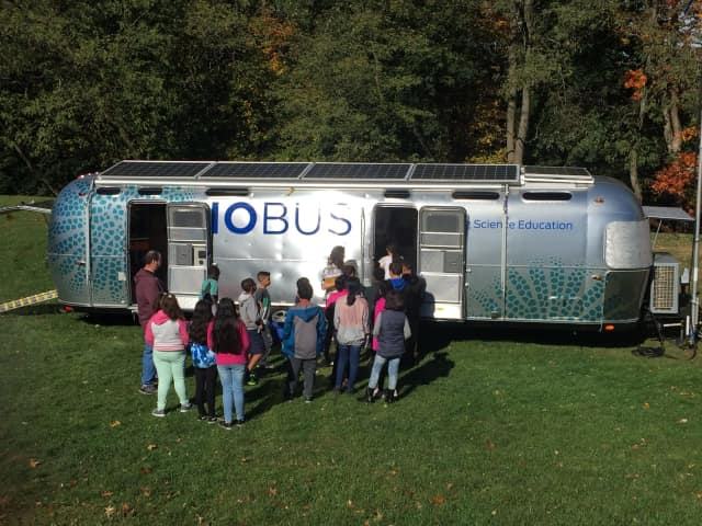 Elmsford students had a chance to visit the Biobus.