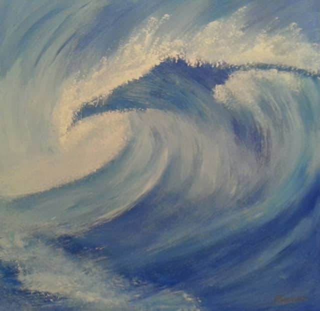"""Blue Wave"" by Peter Saverine is on sale now to benefit Darien's Blue Wave Booster Club."