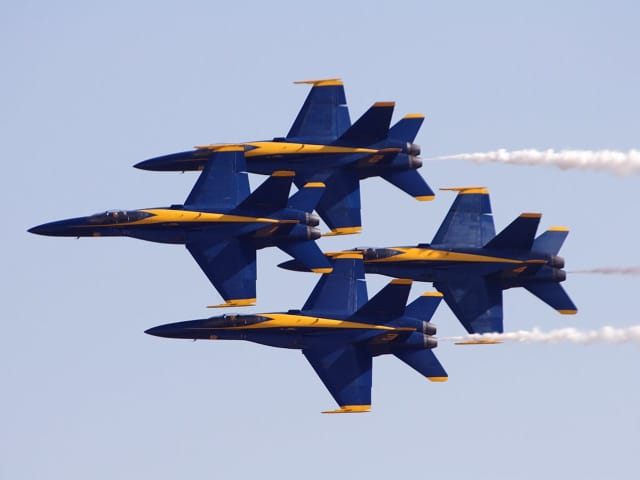 The Blue Angels will be flying over the Tappan Zee Bridge.