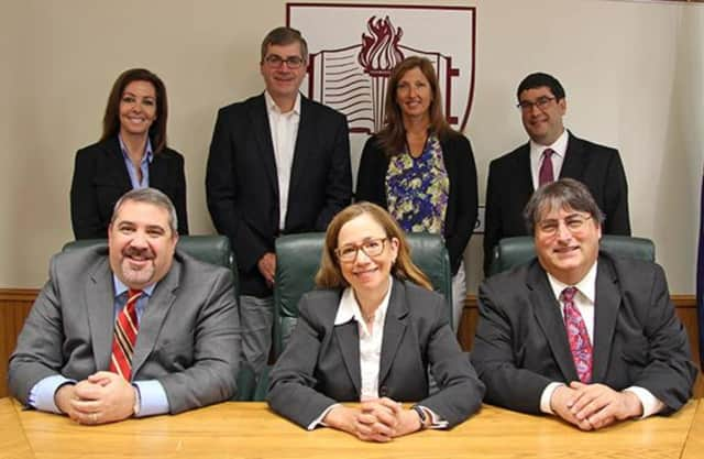 Scarsdale Board of Education President Leila Shames Maude (front, center) will be one of three educators to speak from the school district at the upcoming Forum meeting.