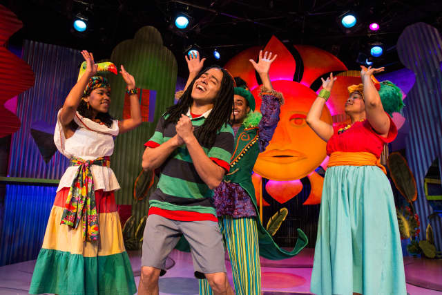 It's a jammin' musical featuring the timeless music and lyrics of Bob Marley and based on the children's book by his daughter Cedella.