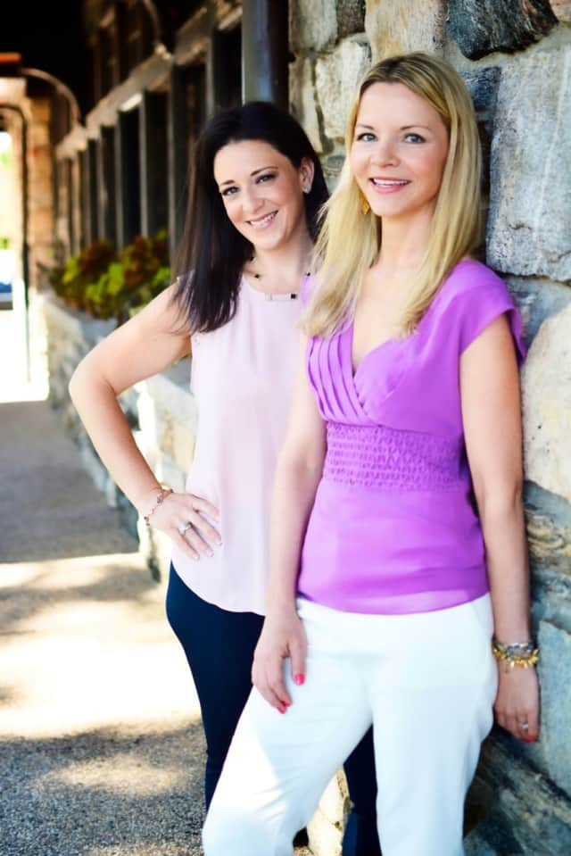The Chappaqua moms behind Booked Marketplace: Meryl Lefkowitz, left, and Claire Gilvar.