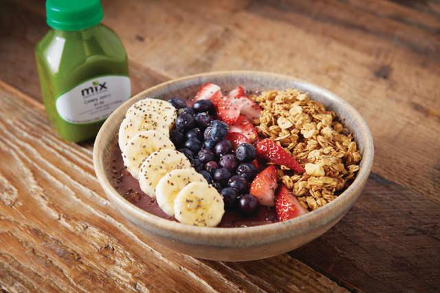 Breakfast Acai Bowl. Courtesy Myx Creative Kitchen.