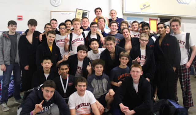 Greeley Boys Swimming and Diving Team won their 8th Conference Championship.