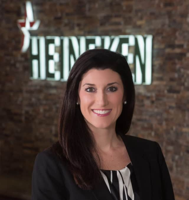 Bridget Lasda of Stamford has been honored for her work at Heineken USA of White Plains.