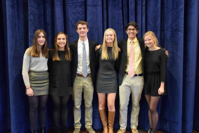 Bronxville High School students, Martha Thomas, Claire
