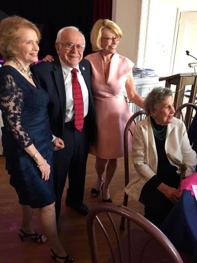 From left, Margaret and Anthony Colavita, Bronxville Women's Club President Joyce Balint and Clara (Dee) Sorensen