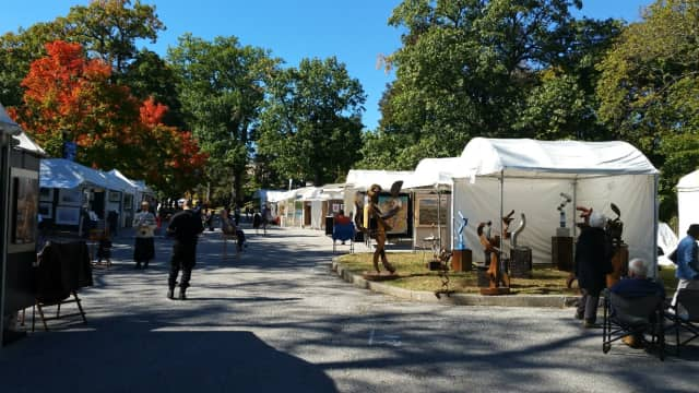 Bruce Museum in Greenwich hosts its fall Outdoor Arts Festival.