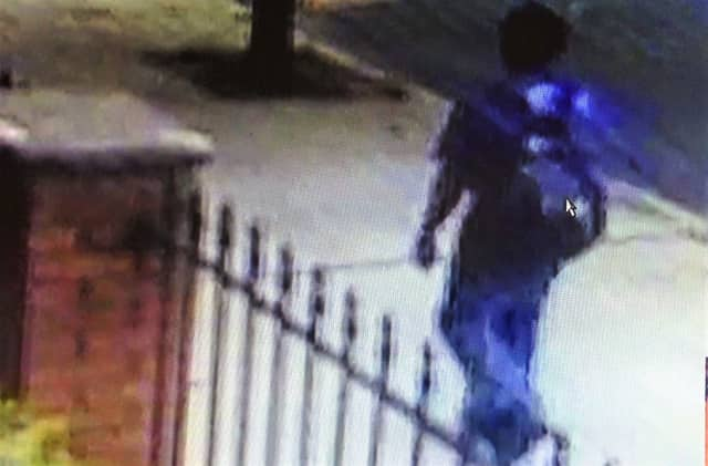 Authorities asked that anyone who might have seen something or can help authorities identify the 5-foot-8-inch suspect call Garfield PD: (973) 478-8500.