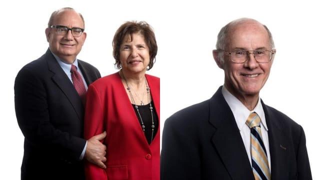 Burke's three award winners: Steven Kessler, Barbara Kessler and Michael Reding.