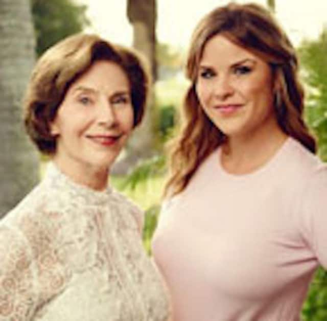 Laura Bush and Jenna Bush Hager will read from their new book at the Wyckoff YMCA on Tuesday.