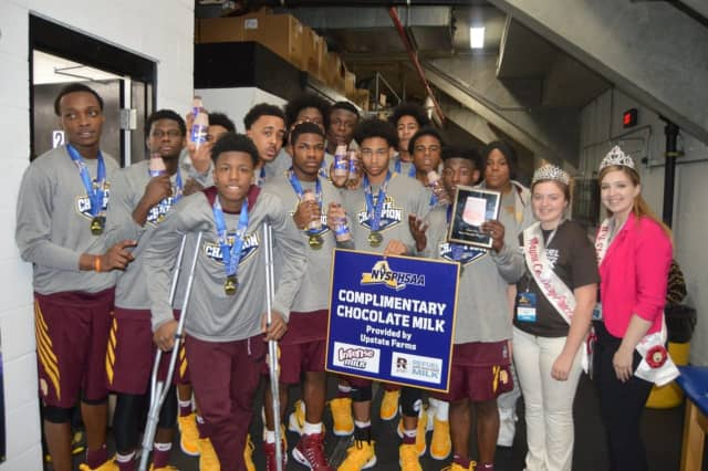 The Mount Vernon boy's varsity basketball team won championship gold last month.