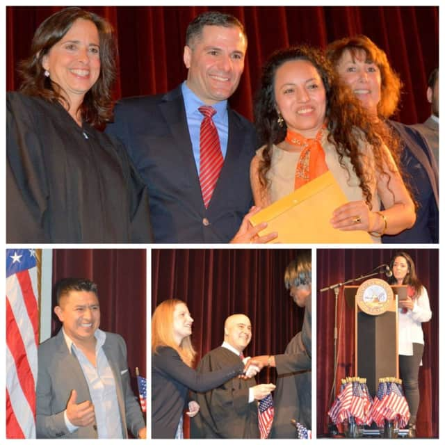 Dutchess County Executive Marc Molinaro was on hand Friday to congratulate dozens of Dutchess County residents on becoming citizens of the United States.