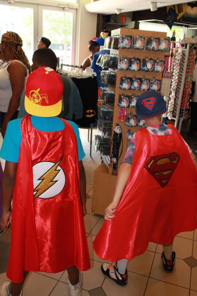 Boys living in one of Children's Aid and Family Services' therapeutic group homes celebrate Halloween.