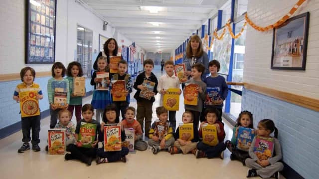 Students at Carrie E. Tompkins Elementary School in Croton collected and donated 40 boxes of food recently.