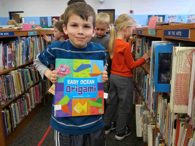 Students at Carrie E. Tompkins Elementary School in Croton-on-Hudson familiarized themselves with the school's library during PARP month by participating in PTA- led Library Expeditions.