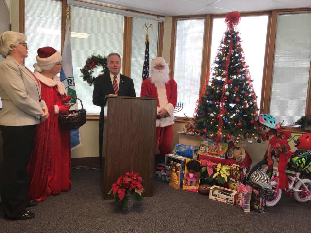 Rockland residents donated presents that will be delivered to foster children.