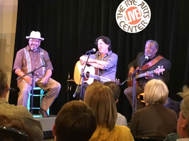 Three blues musicians performed Saturday at the Rye Arts Center.