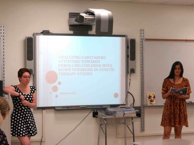 Croton-Harmon High School's science research program participants shared their research during the Science Research Symposium.