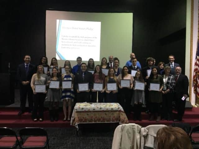 Carmel High School students have been inducted into the Business Honor Society.