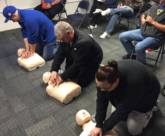 CPR classes are held regularly at Eastchester EMS's headquarters as well as offsite locations.