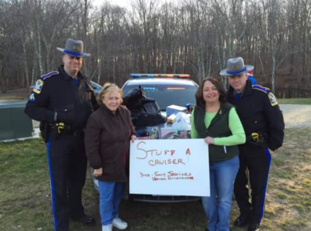 "Connecticut State Police Troop G will hold a ""Stuff a Cruiser"" holiday toy drive Dec. 12 and Dec. 19 at Walmart in Norwalk and Milford."