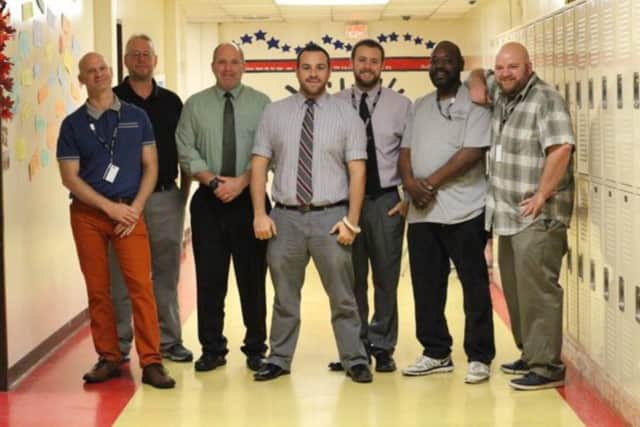 Teachers at Peekskill High School are growing beards in an effort to raise money for deserving Peekskill families this holiday season.