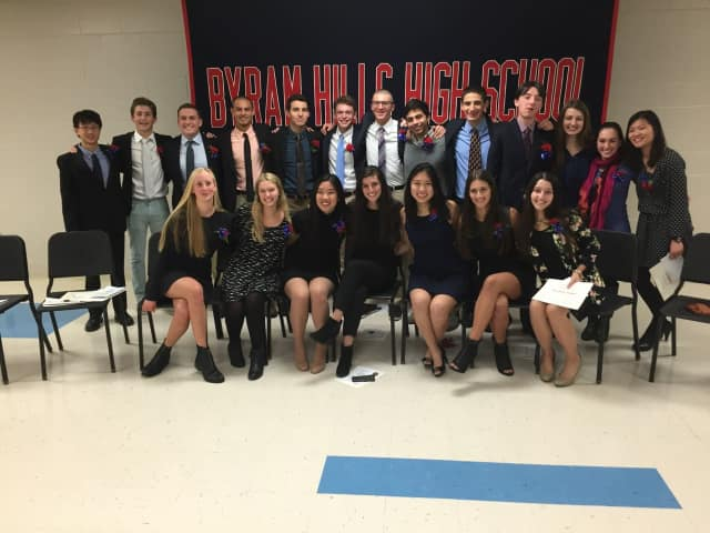A group of 21 seniors from Byram Hills High School has been inducted into the Cum Laude Society.