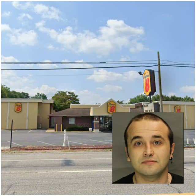 The Super 8 hotel in Middlesex Township where police arrested Jason Wunderlich.