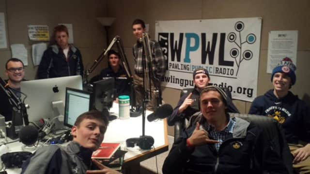 Members of the Trinity-Pawling School's Record Club stopped by Pawling Public Radio WPWL 103.7 recently.
