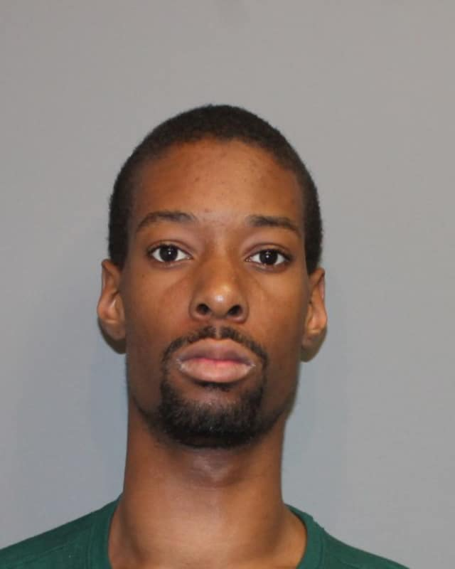 Darryl Anderson. 24, of the Bronx, faces charges of threatening and breach of peace after, police said, he told a Norwalk store that he would blow it up if it didn't fire his girlfriend.