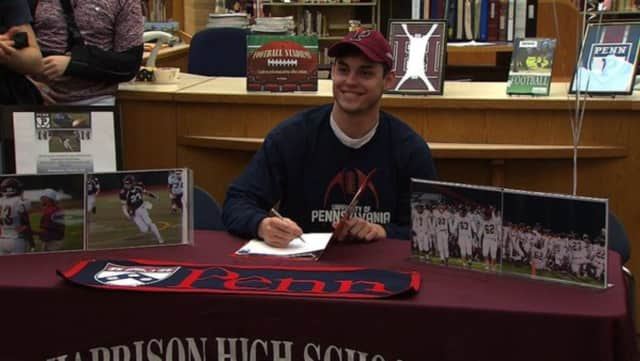 Zach Evans, a three-sport athlete, will continue his athletic career in football for the University of Pennsylvania.