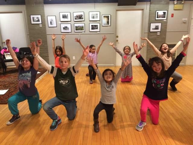 Children rehearse in a Spotlight Arts workshop in Brewster.
