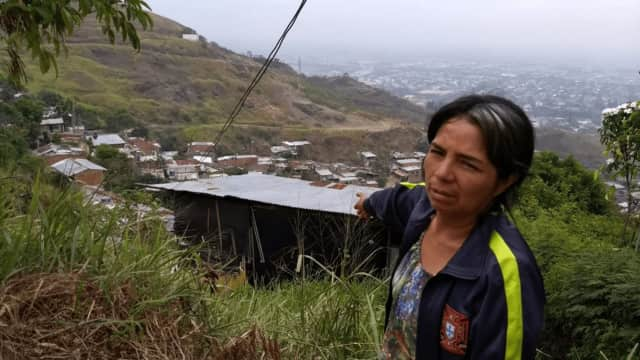 Roof4Roof of Carlstadt aided this woman and hundreds of other people in Colombia.